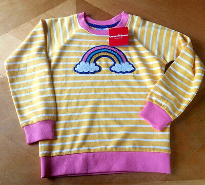 NWT HANNA ANDERSSON FRENCH TERRY APPLIQUE RAINBOW SWEATSHIRT 120 6/7 or 150 12