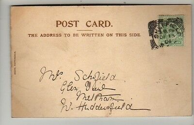 Square Circle Postmark - Sheffield - 1904 - KEVII - PC Cat