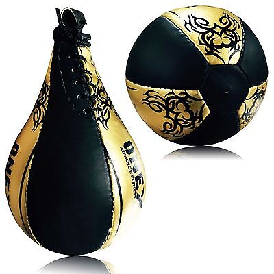 Pro Leather Single End Speed Ball Boxing Punching Martial Arts MMA Training Ball