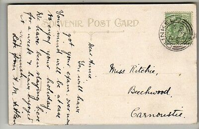 Double Circle Postmark - Dunkeld - 1909 - KEVII - PC Taymouth Castle