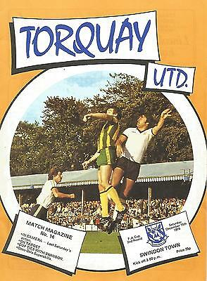 Torquay United v Swindon Town - FA Cup - 1979 - Football Programme