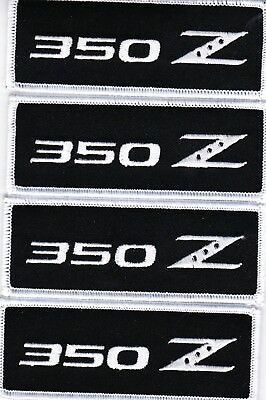 Nissan 350Z (4) Embroidered Sew/iron On Patch Emblem Badge