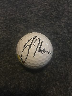 Justin Thomas Autographed Augusta National Masters Golf Ball