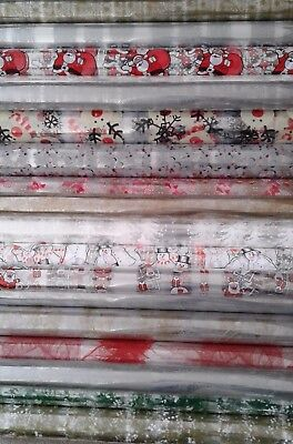 2 Mtrs Christmas Cellophane 80Cm Wide* Folded* Hampers,gift Boxes Florist Wrap
