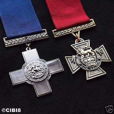 Victoria Cross + George Cross Medal Set Highest Military Medal Uk Bravery Copy '