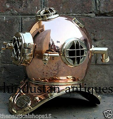 US Navy Mark V Antique Diving Divers Helmet Vintage DIVE Full Size Scuba Deep 18