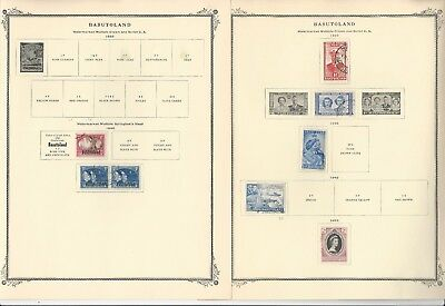 Basutoland Collection 1933 to 1965 on Scott Specialty Pages