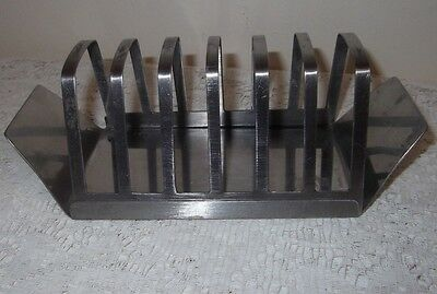 A Vintage Retro Stainless Steel Toast Rack