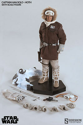 """Star Wars Sideshow Captain Han Solo Hoth 1/6 Scale Figure 12"""""""