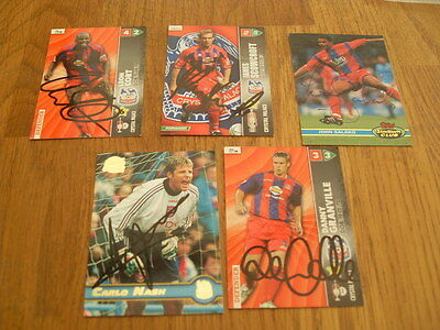 Crystal Palace 5 Signed Trade Cards/stickers Pack 3
