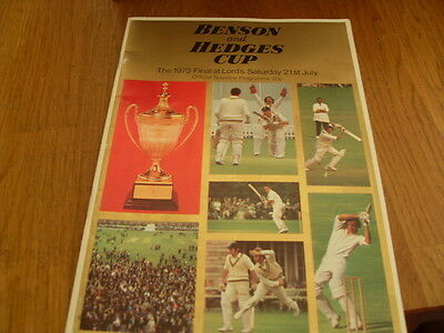 Benson & Hedges Cup 1973 Final 21St July Lords Programme