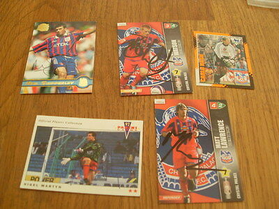 Crystal Palace 5 Signed Trade Cards/stickers Pack 4