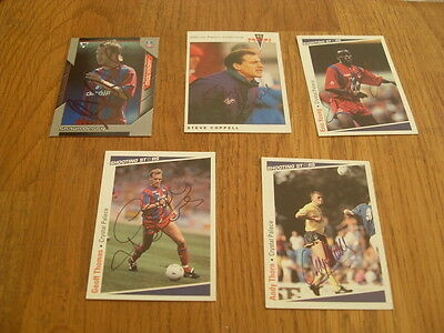 Crystal Palace 5 Signed Trade Cards/stickers Pack 2