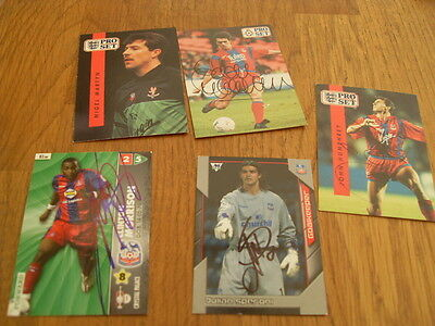 Crystal Palace 5 Signed Trade Cards/stickers Pack 6