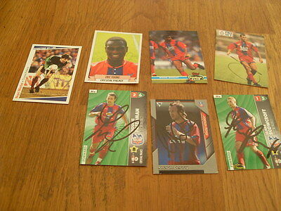 Crystal Palace 7 Signed Trade Cards/stickers Pack 9