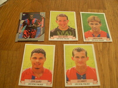 Crystal Palace 5 Signed Trade Cards/stickers Pack 5