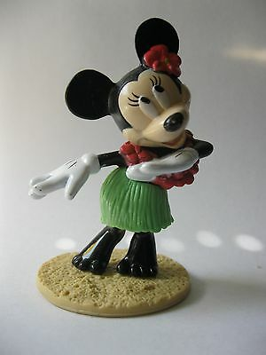 Hula Dancing MINNIE MOUSE stamped Disney DecoPac about 3.25 inch tall BOBBLER