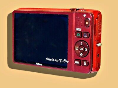 NIKON CoolPix S6500 Red Mechanically Reconditioned Digital Camera WiFi 12X Zoom