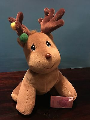 """Precious Moments Reindeer Plush Collectible Christmas Tender Tails 1998 9"""""""