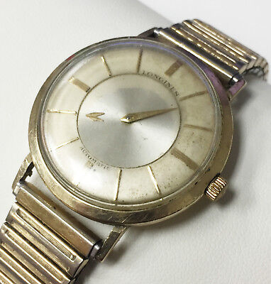 Longines Admiral 1200 10K Gold Filled Mystery Dial Vintage Mechanic Watch Swiss