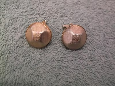 Vintage Textured Goldtone Cufflinks