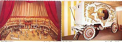 Vintage 4 Postcards Ringling Museum Of The Circus  *clean*