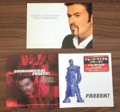 FREE ship! George Michael JAPAN promo LEAFLET and POSTCARD set WHAM! more listed