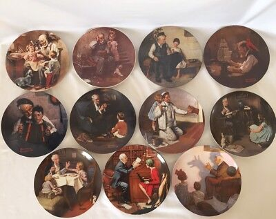 """Norman Rockwell """"Heritage"""" collection, Complete set of 18 plates"""