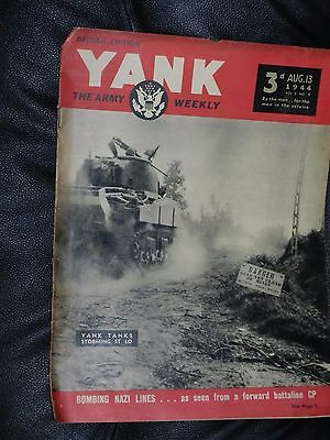 Yank Magazine Army Weekly Aug 13 1944 Wwii British Edition Joan Lawrence Pinup