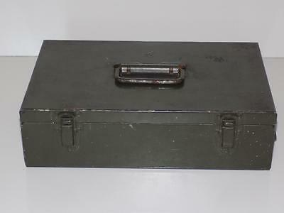 Vintage Military Army Heavy Strong Ammunition Hardware Nuts & Bolts Metal Box