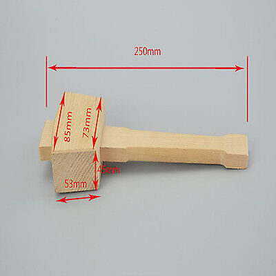 250mm Beech smooth surface Wood Wooden Mallet Hammer Handle Woodworking Tool