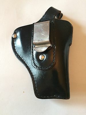Audley SW2 Black Leather Police Gun Revolver Holster For Belt NYPD OBSOLETE