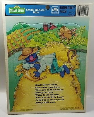 Sesame Street Small Monster Blue  - Frame Tray Puzzle - Golden - Grover