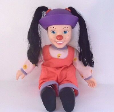"""Vintage 1997 Big Comfy Couch Loonette Clown Doll 15"""" Soft Body Vinyl Face Rare"""
