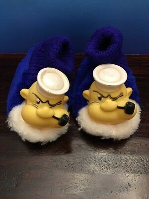 Extremely Rare King Features Syndicate Inc. Popeye Children's Slipper Socks Shoe