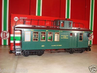 Lgb 40756 Green White Pass & Yukon Non-Lighted Drovers Caboose #207 New In Box!!