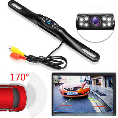 Metal 170° Car License Plate Rear View Backup Reverse Cam Camera Night Vision