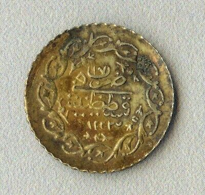 Turkey Ottoman coin gilded low-grade gold duty stamp #2