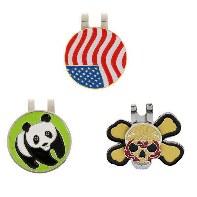 Pack of 3Pcs Magnetic Hat Clip On Golf Ball Markers Fit for Golf Cap Visor