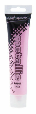 Mont Marte Metallic Acrylic Paint 75ml Tube - Pink