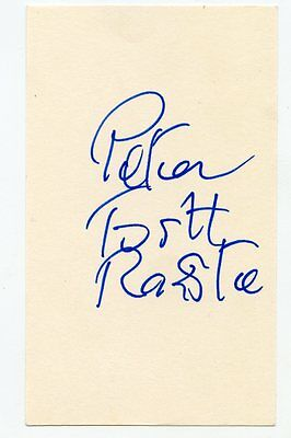 PETER TOSH 1983 Signed Index Card Wailers RARE!  KOA Authenticated