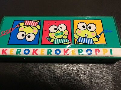 1992 Kero Kero Keroppi Pencil Case Vintage
