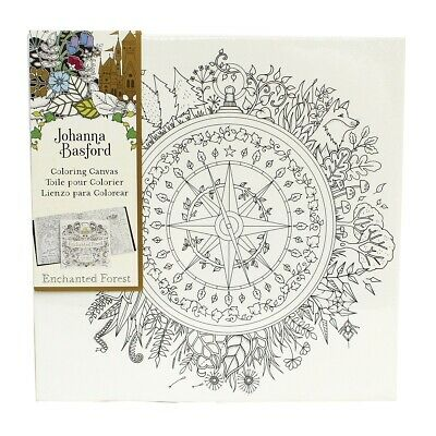 "Johanna Basford Colouring In Canvas - Enchanted Forest 12"" x 12"" Compass"