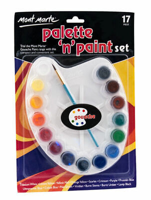 Mont Marte Palette n Paint Set - Gouache 17pc