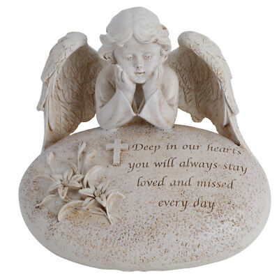Angel Memorial Statue | Deep in our hearts you will always stay loved 16cm