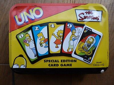 COLLECTABLE - The SIMPSONS - Uno Card Game (Special Edition)