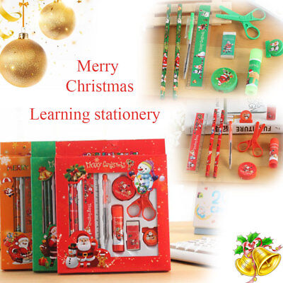 Student Stationery Set Pack Kids Christmas Gift Office School Supply Mix Color