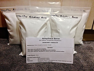 BORAX ANHYDROUS 1 kg / 2.2 lbs BLACKSMITH Forging FLUX Dehydrated STEEL Welding