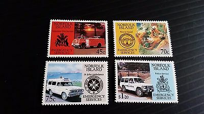 Norfolk Island 1993 Sg 546-549 Emergency Services Mnh
