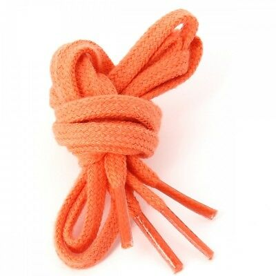 lacets plats coton couleur orange Mandarine